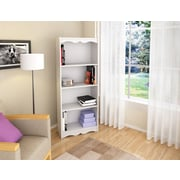 "Sonax® Hawthorn 60"" Wood Bookcase, Frost White"