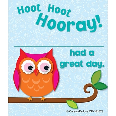 Carson-Dellosa Hoot Hoot Hooray! Award Coupon