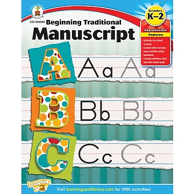 Carson-Dellosa Beginning Traditional Manuscript Workbook