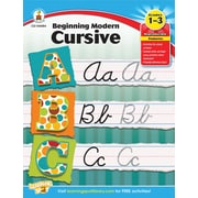 Carson-Dellosa Beginning Modern Cursive Workbook