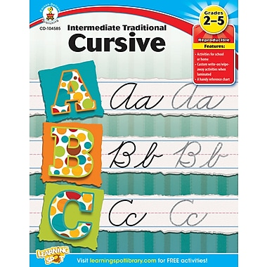 Carson-Dellosa Intermediate Traditional Cursive Workbook