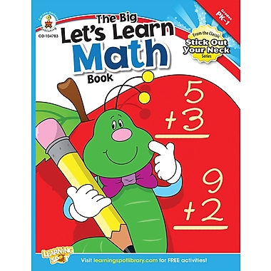 Carson-Dellosa The Big Let's Learn Math Book Workbook