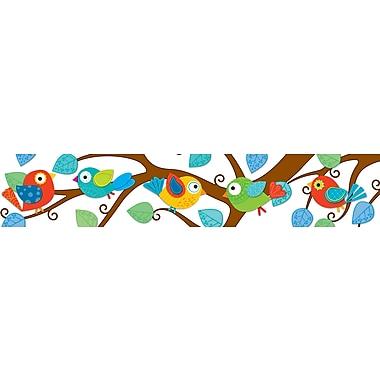 Carson-Dellosa Publishing 108149 36in. Straight Nature Boho Birds Border, Multicolor