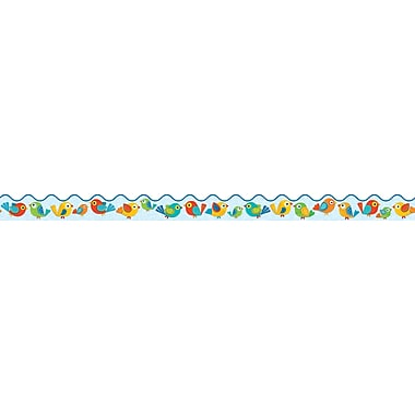 Carson-Dellosa Boho Birds Two-sided Scalloped Border, Grades PK - 8