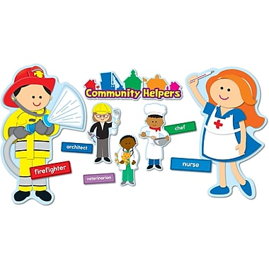 Carson-Dellosa Community Helpers Bulletin Board Set