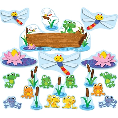 Carson-Dellosa  FUNky Frogs Bulletin Board Set