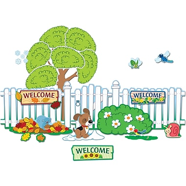 Carson-Dellosa  Seasonal Fence Bulletin Board Set