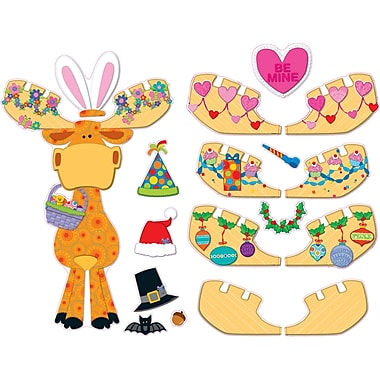 Carson-Dellosa Celebrate with Moose & Friends Bulletin Board Set