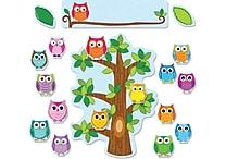 Carson-Dellosa 110226 Colorful Owls Behavior Bulletin Board Set