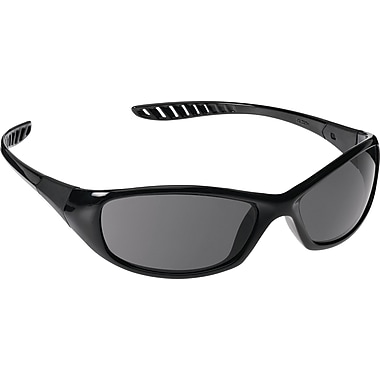 Jackson Safety V40 HellRaiser Safety Glasses, Black Frame, Indoor/Outdoor Lens