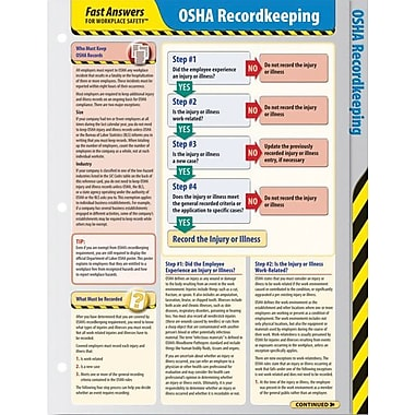 ComplyRight OSHA Recordkeeping Reference Cards