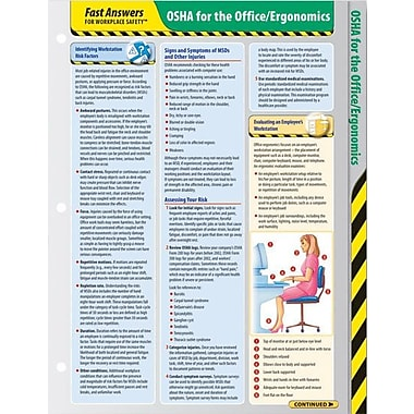 ComplyRight OSHA for the Office/Ergonomics Reference Cards