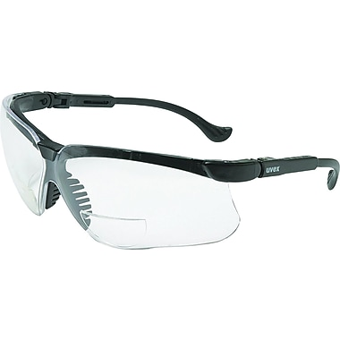 Uvex Genesis Reading Magnifier Glasses, +1-1/2, Black Frame, Clear Ultra-Dura Hardcoat Lens