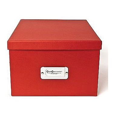 Bigso Gustav CD/DVD/Video & Photo Box, Red