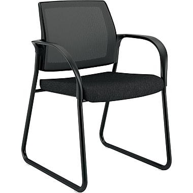 HON Sled Base Guest Chair, Black