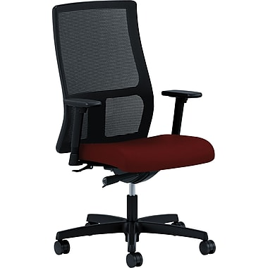 HON Ignition Series Mid-Back Work Chair, Mesh Back, Poppy