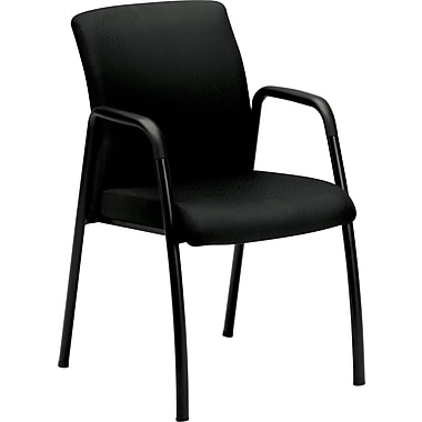 HON Ignition Guest Chair, Fixed Arms, Black