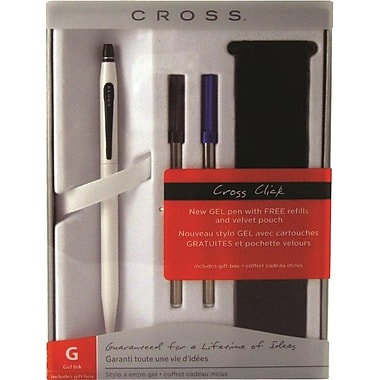 Cross Click Pearlescent White Gel Pen Gift Set