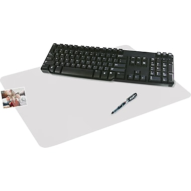 Artistic™ KrystalView™ Desk Pad with Microban®, Clear, 17