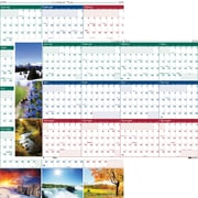 2014 House of Doolittle® Earthscapes™ Laminated Wall Planner, 24 x 37