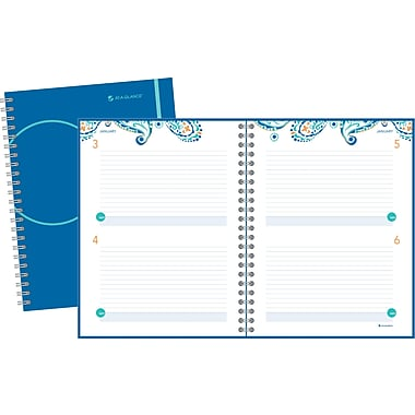 2014 AT-A-GLANCE® Paisley Exclusive Professional Two Days Per Page Planning Notebook, 8 3/8in. x 11in.