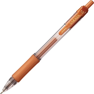 Zebra Sarasa Retractable Gel Pen, Bold Point, Copper Ink