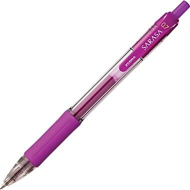 Zebra Sarasa Retractable Gel Pen, Medium Point, Violet Ink