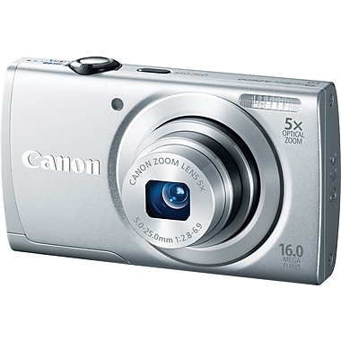 Canon PowerShot A2600 Digital Camera, Silver
