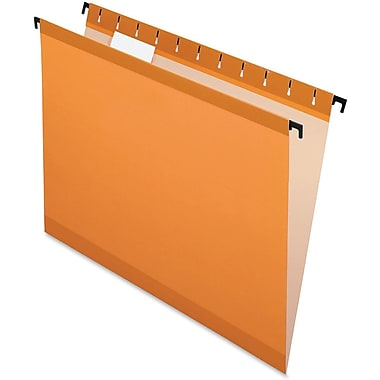 Poly Laminate Hanging Folders, Letter, 1/5 Cut, 20/Box