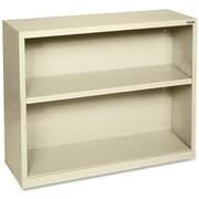 """Hirsh Steel Bookcase, Putty, 2-Shelf, 30""""H"""