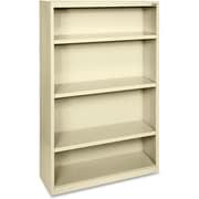 """Hirsh Steel Bookcase, Putty, 4-Shelf, 60""""H"""