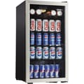 Danby 3.3 CU. FT. Beverage Center, Black And Stainless Steel Finish