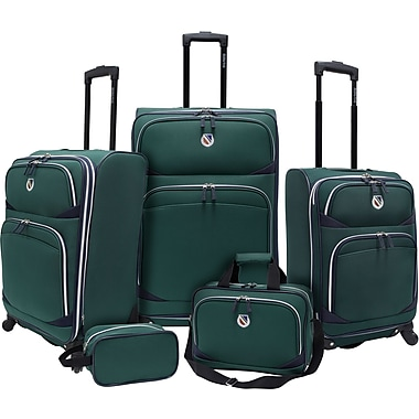 Beverly Hills Country Club BH2200 San Vincente 5-Piece Spinner Luggage Set, Green