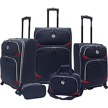 Beverly Hills Country Club BH2200 San Vincente 5-Piece Spinner Luggage Set, Navy