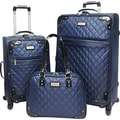 Beverly Hills Country Club BH4800 Brentwood 3-Piece Quilted Spinner Luggage Set, Navy/Black