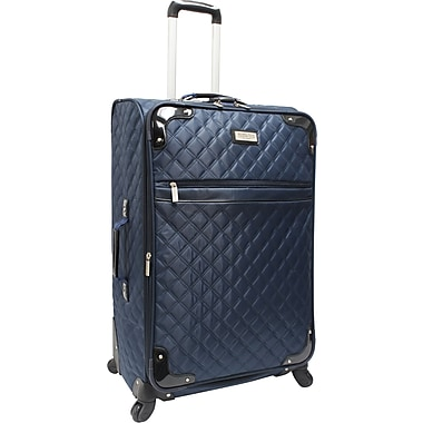 Beverly Hills Country Club BH4800 29in. Quilted Spinner Upright Luggage Suitcase, Navy/Black