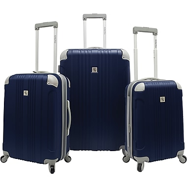 Beverly Hills Country Club BH6800 Malibu 3-Piece Hardside Spinner Luggage Set, Navy