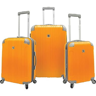 Beverly Hills Country Club BH6800 Malibu 3-Piece Hardside Spinner Luggage Set, Orange