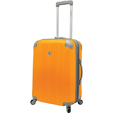 Beverly Hills Country Club BH6800 Malibu 24in. Hardside Spinner Luggage Suitcase, Orange