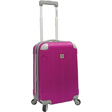 Beverly Hills Country Club BH6800 Malibu 21in. Hardside Spinner Carry-On Suitcase, Magenta