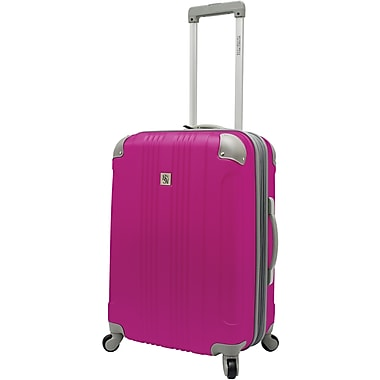 Beverly Hills Country Club BH6800 Malibu 24in. Hardside Spinner Luggage Suitcase, Magenta