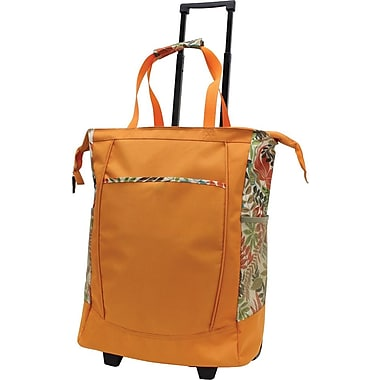 GP® 42211 Handy Rolling Tote With Free Removable Leak Proof Liner, Orange