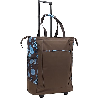 GP® 42211 Handy Rolling Tote With Free Removable Leak Proof Liner, Brown