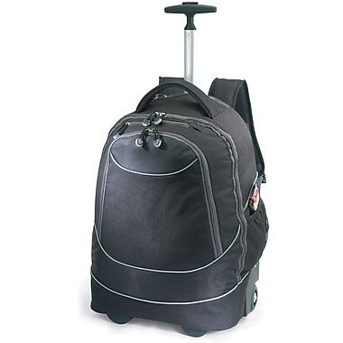 GP® 80780 Horizon Rolling Computer Backpack For 17in. Laptops, Black