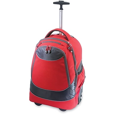 GP® 80780 Horizon Rolling Computer Backpack For 17in. Laptops, Red