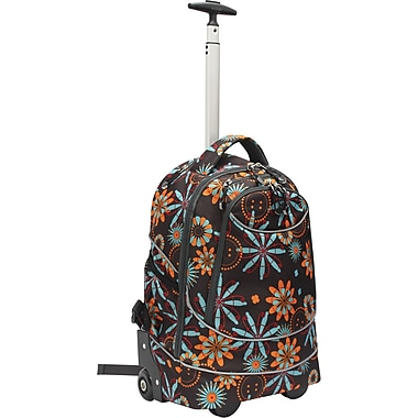 GP® 80780 Horizon Rolling Computer Backpack For 17in. Laptops, Flower