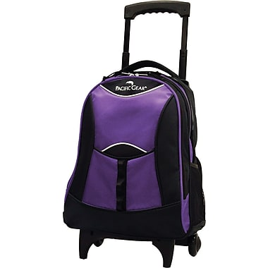 Traveler's Choice® Pacific Gear® PG0099 19in. Lightweight Wheeled Backpack, Purple