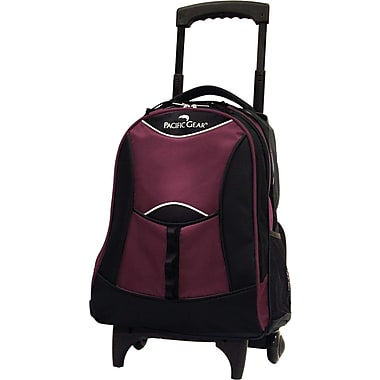 Traveler's Choice® Pacific Gear® PG0099 19in. Lightweight Wheeled Backpack, Burgundy