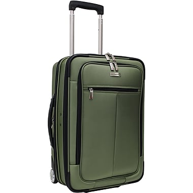 Traveler's Choice® TC0424 Sienna 21in. Hybrid Hard-Shell Rolling Upright Suitcase/Bag, Green