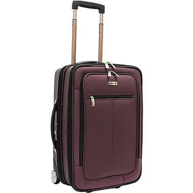 Traveler's Choice® Sienna 21in. Hybrid Hard-Shell with 1680 Denier Ballistic fabric, Rolling Upright Suitcase/Bag, Purple
